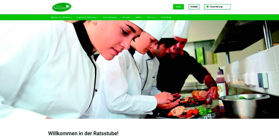 Webseite vom Restaurant Ratsstube